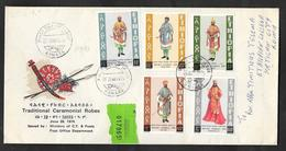 ETHIOPIA F.D.C. FIRST DAY ISSUE 1974 ASMARA TRADITIONAL CEREMONIAL ROBES TO VATICANO - Etiopia