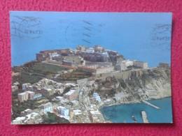 POSTAL POST CARD CARTE POSTALE ITALIA ITALY POSTCARD PROCIDA WITH STAMP CON SELLO ROCCA DI S. MICHELE VEDUTA AEREA VER F - Italia