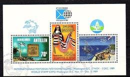 UPU 1989 Block Very Fine Used (147) - Curaçao, Nederlandse Antillen, Aruba