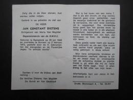 VP BELGIQUE (M1902) DOODSPRENTJE (2 Vues) JAN CONSTANT DIETENS RAMSDONK 29/7/1894 - BORNEM 2/2/1972 - Décès