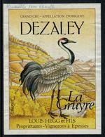 Rare // Etiquette De Vin // Oiseaux //  Dézaley,la Gruyre - Etiquettes