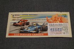 Billet Loterie Nationale FRANCE,1974,les Gueules Cassées, 5 F - Billets De Loterie