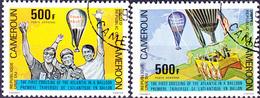 Karemun - 1. Atlantiküberquerung Im Freiballon (Mi.Nr.: 919/20) 1979 - Gest Used Obl - Cameroun (1960-...)