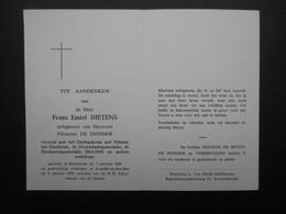 VP BELGIQUE (M1902) DOODSPRENTJE (2 Vues) FRANS EMIEL DIETENS RAMSDONK 7/10/1889 - KAPELLE OP DEN BOS 6/1/1970 - Décès