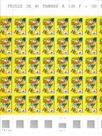 France YT 3076 Football FC Nantes Feuille 50 TP N** - Feuilles Complètes