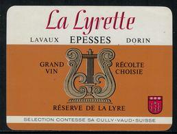 Rare // Etiquette De Vin // Musique //  Epesses, La Lyrette - Musique