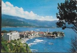 MONTENEGRO - BUDVA - PANORAMA - VIAGGIATA 1967 FRANCOBOLLO ASPORTATO - Montenegro