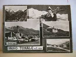 1962 - Trento - Saluti Dal Passo Del Tonale - Monumento Alla Vittoria Guerra 1915 - 1918 - Ragazza Con Gli Sci - Souvenir De...