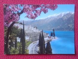 POSTAL POST CARD CARTE POSTALE ITALIA ITALY POSTCARD LARGO DI GARDA LAGO DE BENACO GARDESANA OCCIDENTALE WITH STAMP VER - Italia