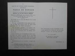 VP BELGIQUE (M1902) DOODSPRENTJE (2 Vues) MARIA DE BORGER WILLEBROEK 7/8/1867 - WILLEBROEK 28/5/1961 - Décès