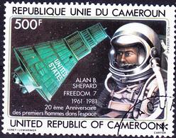 Karemun - Alan Shepard, Astronaut; Raumkapsel Freedom 7 (Mi.Nr.: 958) 1981 - Gest Used Obl - Cameroun (1960-...)