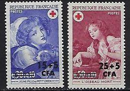 "Reunion YT 404 & 405 "" Croix-Rouge "" 1971 Neuf** - Reunion Island (1852-1975)"