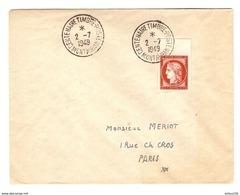 LETTRE MONTAUBAN 2 JUILLET 1949 CENTENAIRE TIMBRE POSTE - Y & T CERES N° 830 BdF - 2 Scans - ....-1949