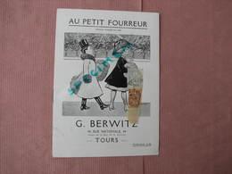 """TOURS """"Au Petit Fourreur"""" 1855 G. Berwitz 48 Rue Nat. Catalogue Avec T.B. Clichés TBE - 1800 – 1899"""