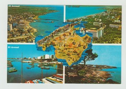 28.01.1985   -  AK/CP/Postcard  Spanien/Balearen/Mallorca/El Arenal -   Gelaufen   - Siehe Scan  (esp 011) - Mallorca