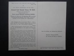 VP BELGIQUE (M1902) DOODSPRENTJE (2 Vues) ARMAND JOZEF GUSTAAF ANTOON DE BOE OPHASSELT 20/9/1900 - RUISBROEK 22/7/1955 - Décès