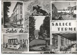 SALUTI DA SALICE TERME - 5 Vedutine + Foto Equitazione - Viaggiata 1965 - Pavia