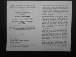 VP BELGIQUE (M1902) DOODSPRENTJE (2 Vues) DESIRé COREMANS BREENDONK  2/8/1938 - TISSELT 5/11/1989 - Décès