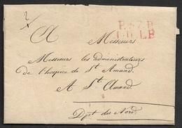 """LAC - P.64.P / LILLE 28x 13 Ind. 13 - ADMIN. DE L'HOSPICE ST AMAND - Contenus Intéressants - """" Deux Malheureux Enfants.. - 1701-1800: Précurseurs XVIII"""