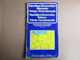 Kümmerly + Frey - République Démocratique Allemande - Pologne - Tchécoslovaquie - éditions De 1979 - Cartes Routières