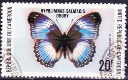 Karemun - Das Blaue Diadem (Hypolimnas Salmacis) (Mi.Nr.: 890) 1978 - Gest Used Obl - Cameroun (1960-...)