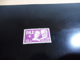 Schweiz, Einzelwert Aus Paxsatz 10 Fr., Zumstein 274** - Schweiz