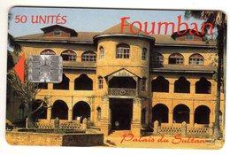 CAMEROUN REF MV CARDS CAM-39 FOUMBAN Palais Du Sultan 50U Verso CAMTEL - Cameroon