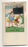 CARTE BAROMETRE ARTISTIQUE ENFANT LAPIN CHASSE - Cartoline