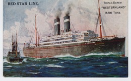 RED STAR LINE WESTERNLAND - Unclassified