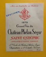 9577 - Château Phélan Sègur 1979  Saint-Estèphe Spécimen - Bordeaux