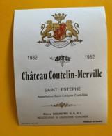 9579 - Château Coutelin -Merville 1982 Saint-Estèphe - Bordeaux