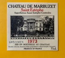9580 - Château De Marbuzet 1973 Saint-Estèphe  Spécimen - Bordeaux