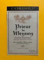 9585 - Prieur De Meyney 1981 Saint-Estèphe - Bordeaux