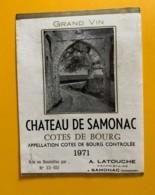 9586 - Château Se Samonac 1971 Côtes De Bourg - Bordeaux