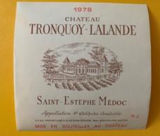 9573 - Château Tronquoy-Lalande 1978 Saint-Estèphe - Bordeaux