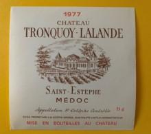 9575 - Château Tronquoy-Lalande 1977  Saint-Estèphe - Bordeaux