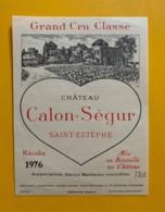 9576 - Château Calon-Sègur 1976  Saint-Estèphe - Bordeaux