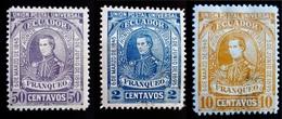 1896 Equateur - Ecuador Yt 70,72,74 . General Antonio De Elizalde .  Success Of The Liberal Party - Equateur