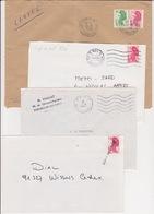 Lot 4 Lettres Oblitération PARIS 15 ATAM Atelier De Tri Automatique Et Manuel Rue F. Bonvin TàD Manuel TOSHIBA SECAP PP - Postmark Collection (Covers)