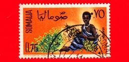 SOMALIA - Usato - 1961 - Ragazze Per La Raccolta - Frutta - Arachidi - 1.75 - Somalia (1960-...)
