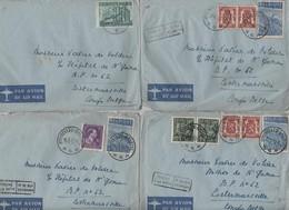 PR6170/ 7 Lettres Avion TP EXportation-Léopold Col Ouvert BXL 1949 Dont 1 BPS 6 AMBT Militaire V.Congo Belge - Postmark Collection