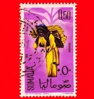 SOMALIA - Usato - 1961 - Ragazze Per La Raccolta - Frutta - Banana - 0.50 - Somalia (1960-...)