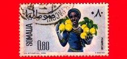 SOMALIA - Usato - 1961 - Ragazze Per La Raccolta - Frutta - Pompelmo - 0.80 - Somalia (1960-...)