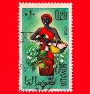 SOMALIA - Usato - 1961 - Ragazze Per La Raccolta - Semi - Cotone - 0.20 - Somalia (1960-...)