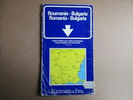 Kümmerly + Frey - Roumanie - Bulgarie / éditions De 1977 - Cartes Routières