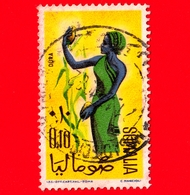 SOMALIA - Usato - 1961 - Ragazze Per La Raccolta - Semi - Durrah (sorgo) - 0.10 - Somalia (1960-...)