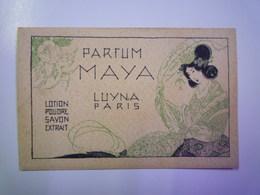 CARTE PARFUMEE  :  PARFUM  MAYA  Luyna Paris   - Vintage (until 1960)