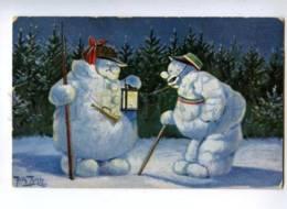 161125 Dressed SNOWMAN Guard By THIELE Vintage TSN PC - Thiele, Arthur