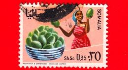 SOMALIA - Usato - 1968 - Agricoltura - Piante (Flora) - Frutta - Papaya - 0.35 - Somalia (1960-...)