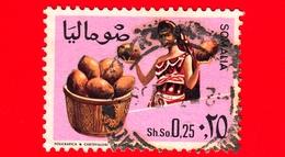 SOMALIA - Usato - 1968 - Agricoltura - Piante (Flora) - Frutta - Noci Di Cocco - 0.25 - Somalia (1960-...)
